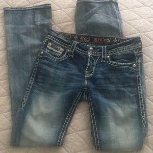 Rock Revival Essie Boot Jeans Sz 27 Bling